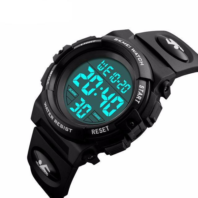 Large Face Digital Watch - Black - from Kids Watches NZ