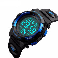 Large Face Digital Watch - Blue - from Kids Watches NZ