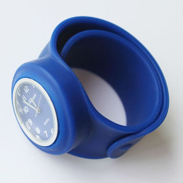 Slap Watch for Boys and Girls with Coloured Face - Dark Blue - from Kids Watches NZ