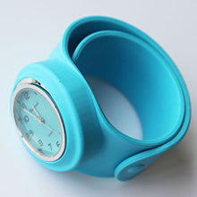 Slap Watch for Boys and Girls with Coloured Face - Blue - from Kids Watches NZ