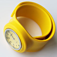 Slap Watch for Boys and Girls with Coloured Face - Yellow - from Kids Watches NZ