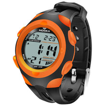 Modern Stylish Multi Time Zone Digital Watch - Orange - from Kids Watches NZ