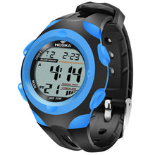 Modern Stylish Multi Time Zone Digital Watch - Blue - from Kids Watches NZ