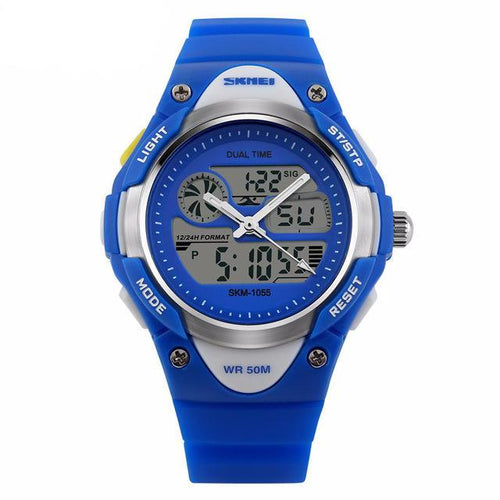 Boys Sporty Digital Watch with Analogue Time (Free Express Delivery)