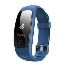 Touch Screen Fitness Tracker with Bluetooth - Blue (Free Black Strap) - from Kids Watches NZ