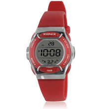 Xonix Digital Sports Watch with Face Guard - Red - from Kids Watches NZ