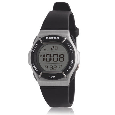 Xonix Digital Sports Watch with Face Guard - Black - from Kids Watches NZ