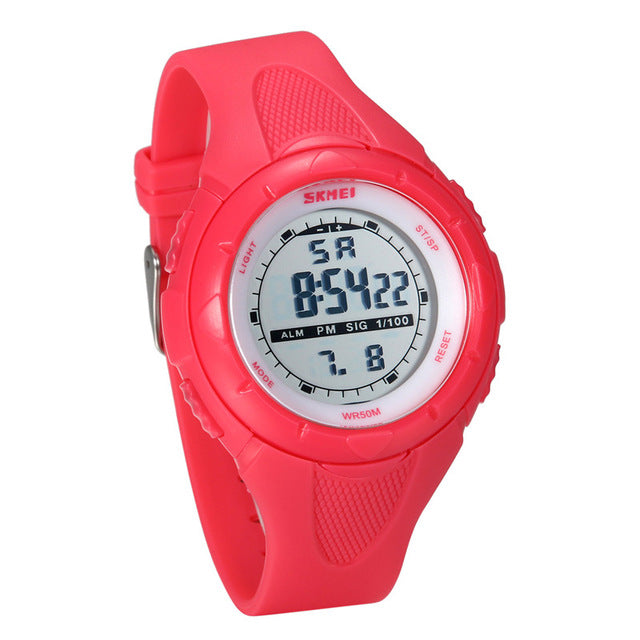 Stylish Digital Watch with Easy to Read Display - Pink - from Kids Watches NZ