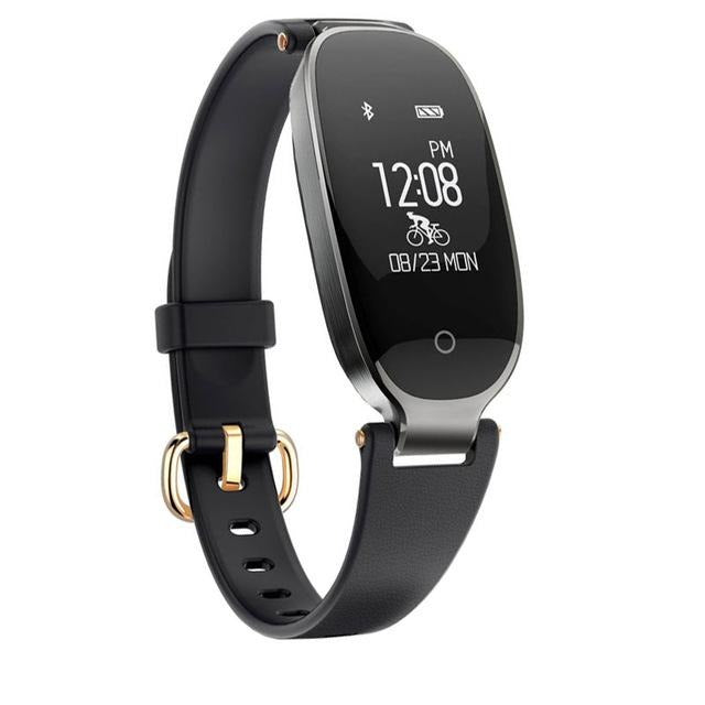 Girl fitness tracker front