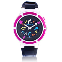 Colourful Numbered Watch with Indiglo Light