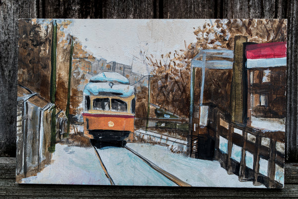 Butler Train Station Dorchester | Original Art Painting