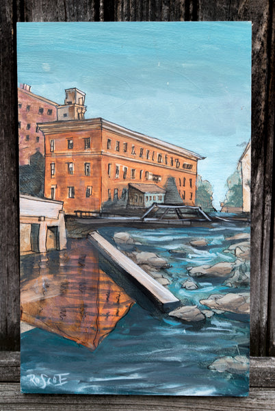 Tall Mill Reflection | Original Painting
