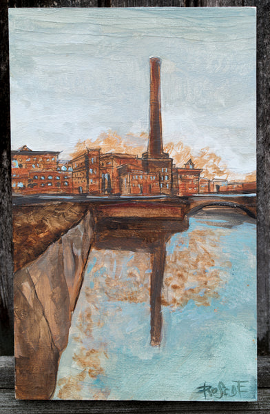 Tall Red | Lower Mills Dorchester Painting