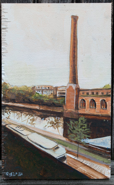 Milton Over The River original painting