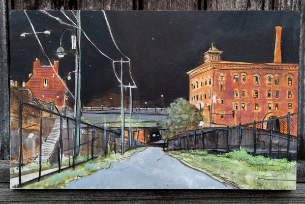 Milton Station at 2 AM original painting