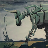 Artificial Bull - Original Oil Painting | Roscoe Lamontagne