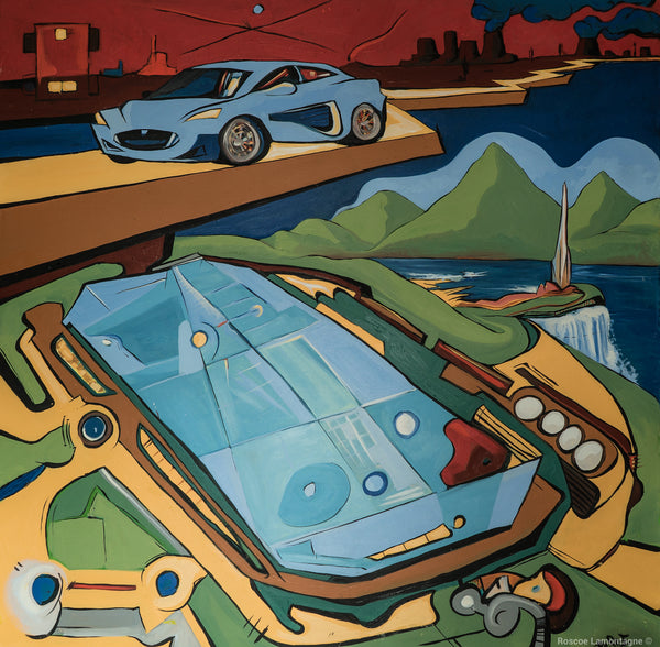 Tesla Evolution Oil Painting