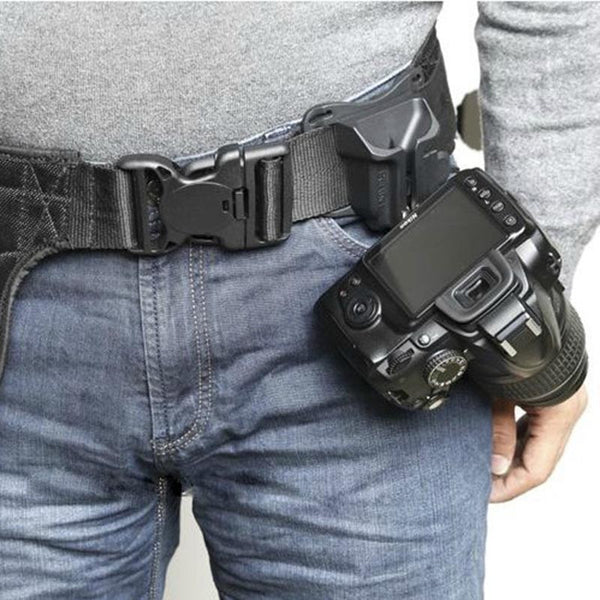 Quick Load Camera Holster Belt Buckle