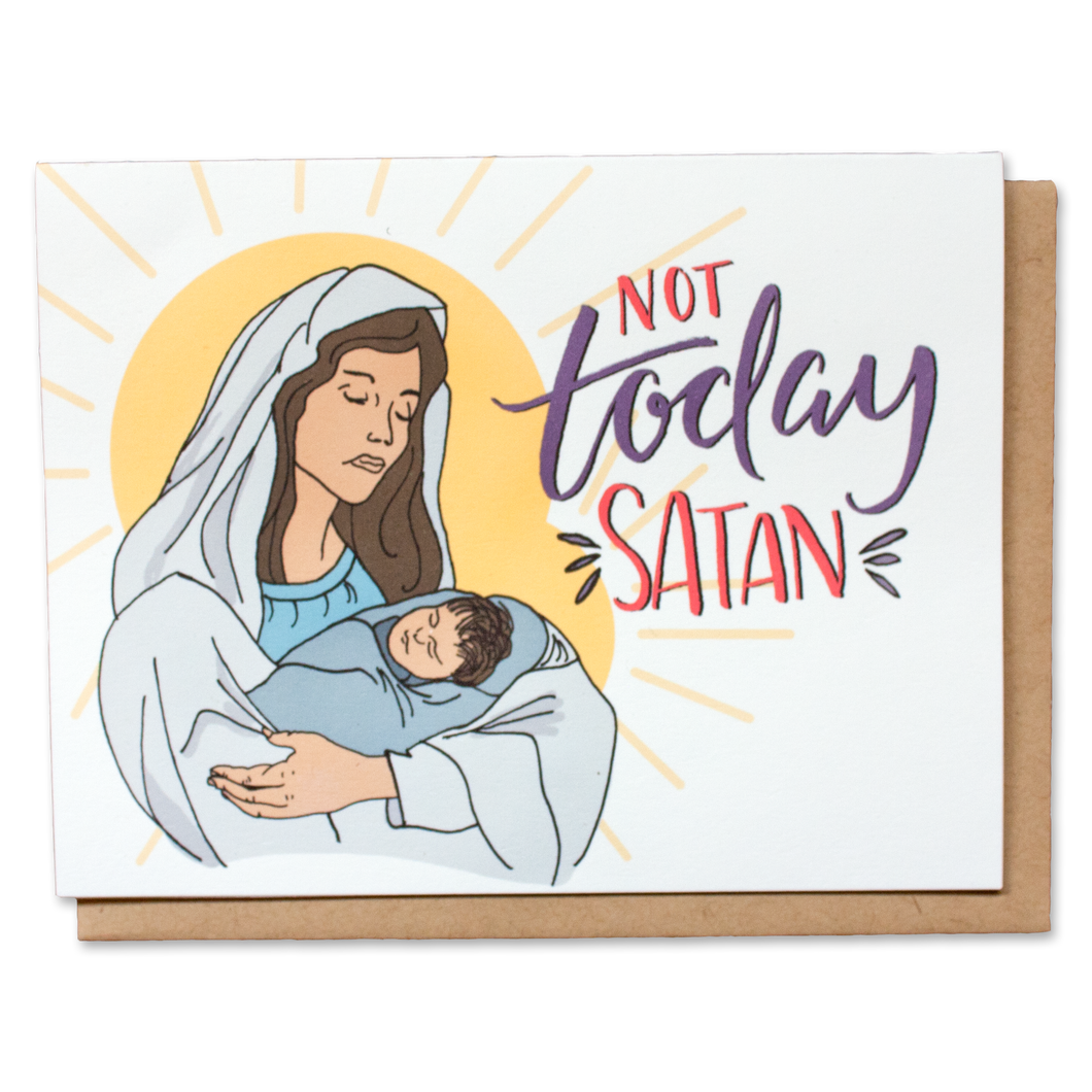 Not Today Satan Holiday Card