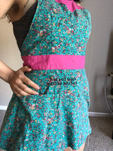 Flirty Apron - Green Floral hot and fresh