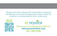 Pet Evolution Gift Card
