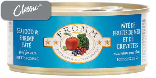 Fromm Seafood and Shrimp Paté Cat Cans