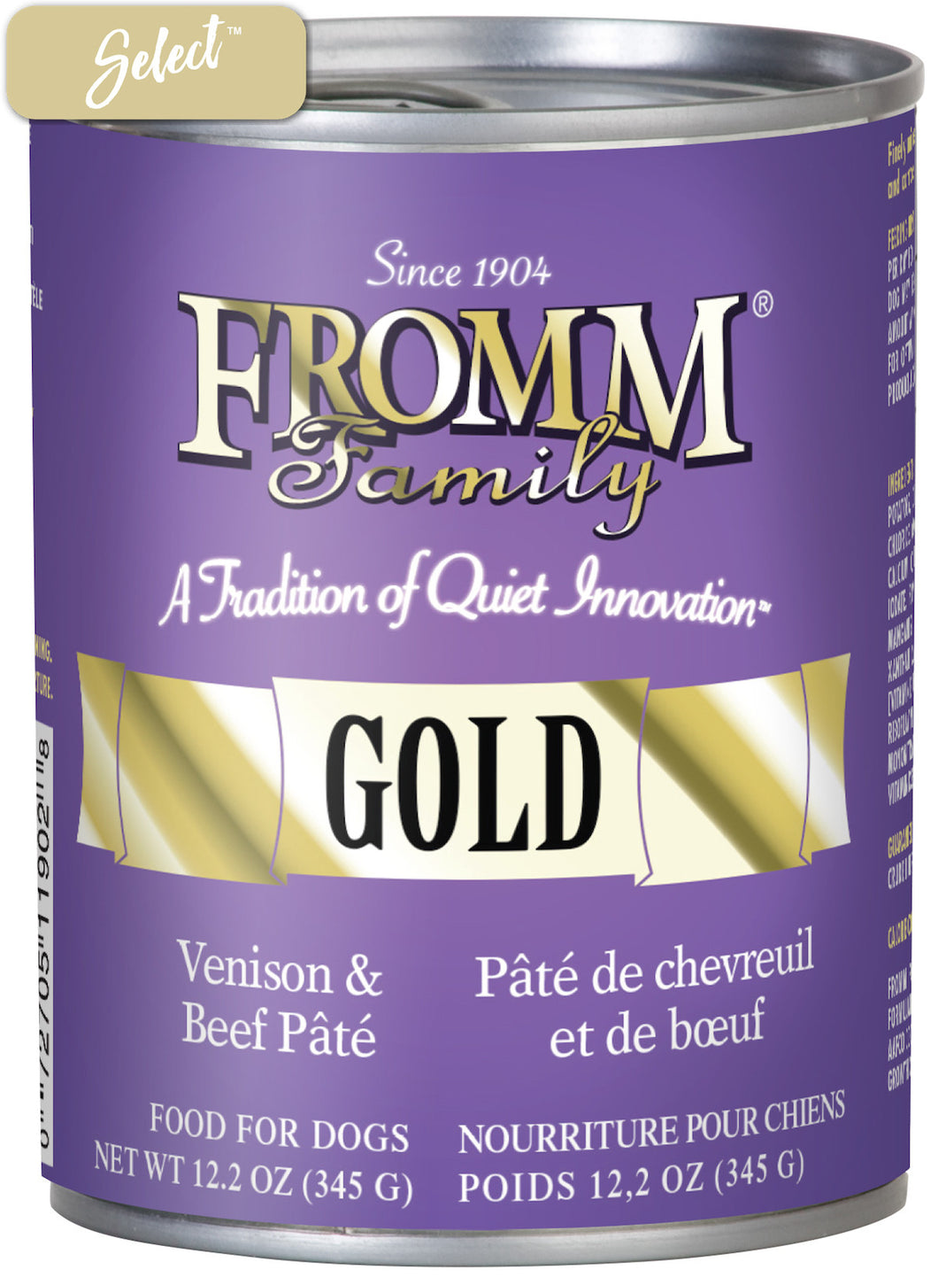 Fromm Gold Venison and Beef Dog Cans