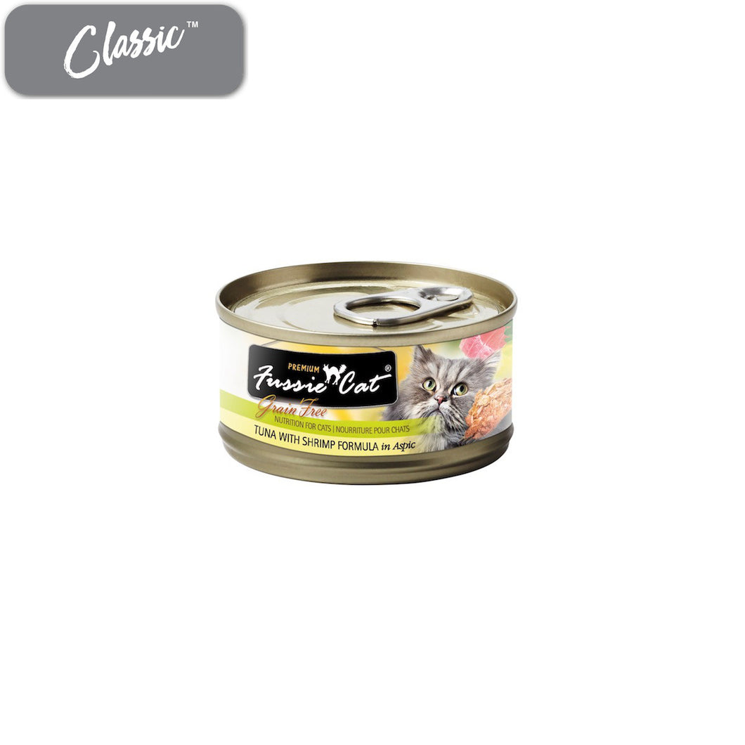 Fussie Cat Premium Tuna and Shrimp Cat Cans