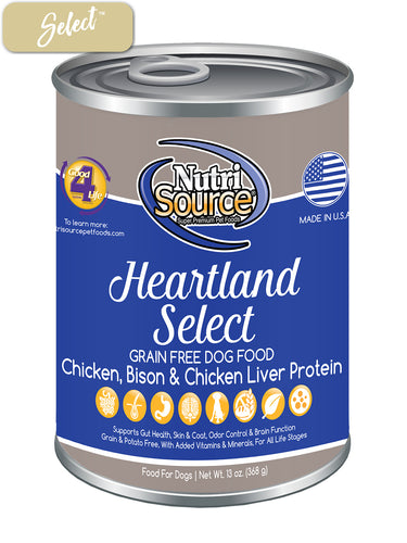 Nutrisource Grain Free Heartland Dog Cans