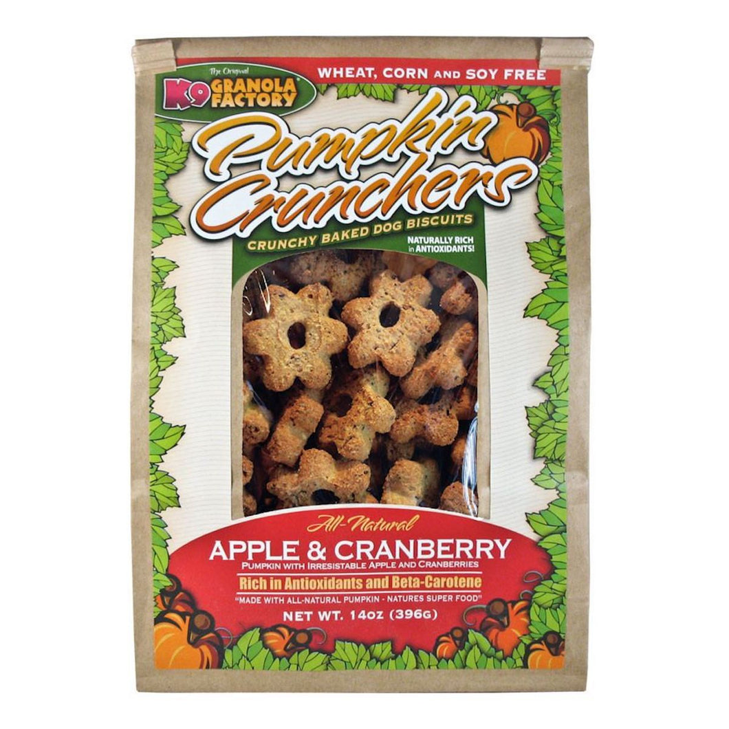 K9 Granola Factory Pumpkin Crunchers Apple Cranberry Dog Treats