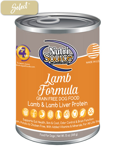 Nutrisource Grain Free Lamb Dog Cans