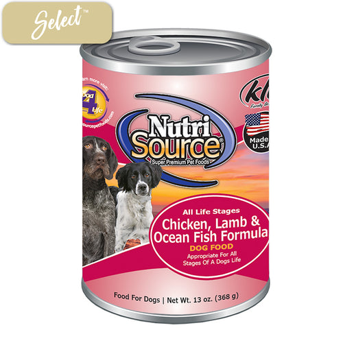 Nutrisource Chicken Lamb and Ocean Fish Dog Cans