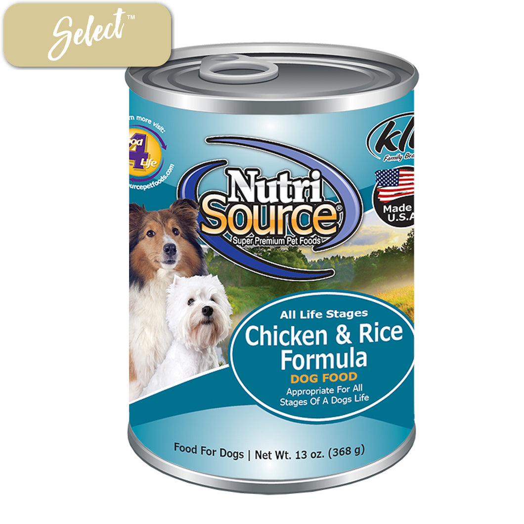 Nutrisource Chicken and Rice Dog Cans