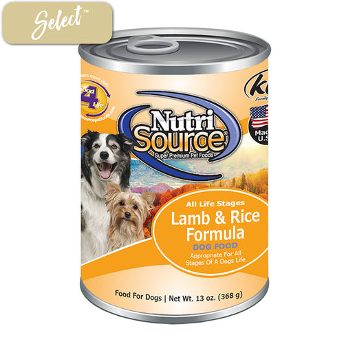 Nutrisource Lamb and Rice Dog Cans