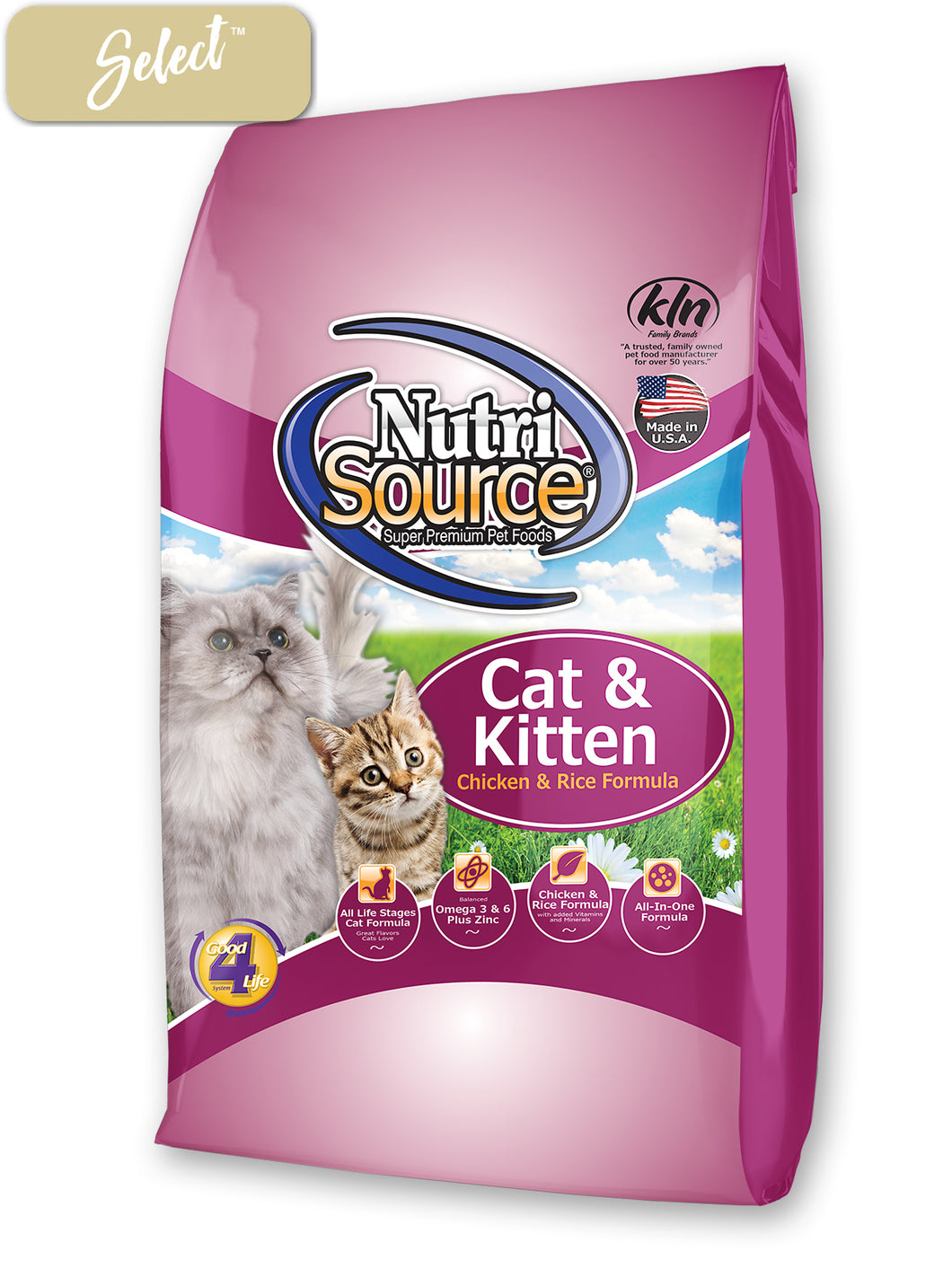 Nutrisource Cat and Kitten Chicken Rice Cat Food