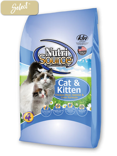 Nutrisource Cat and Kitten Chicken, Salmon Liver Cat Food