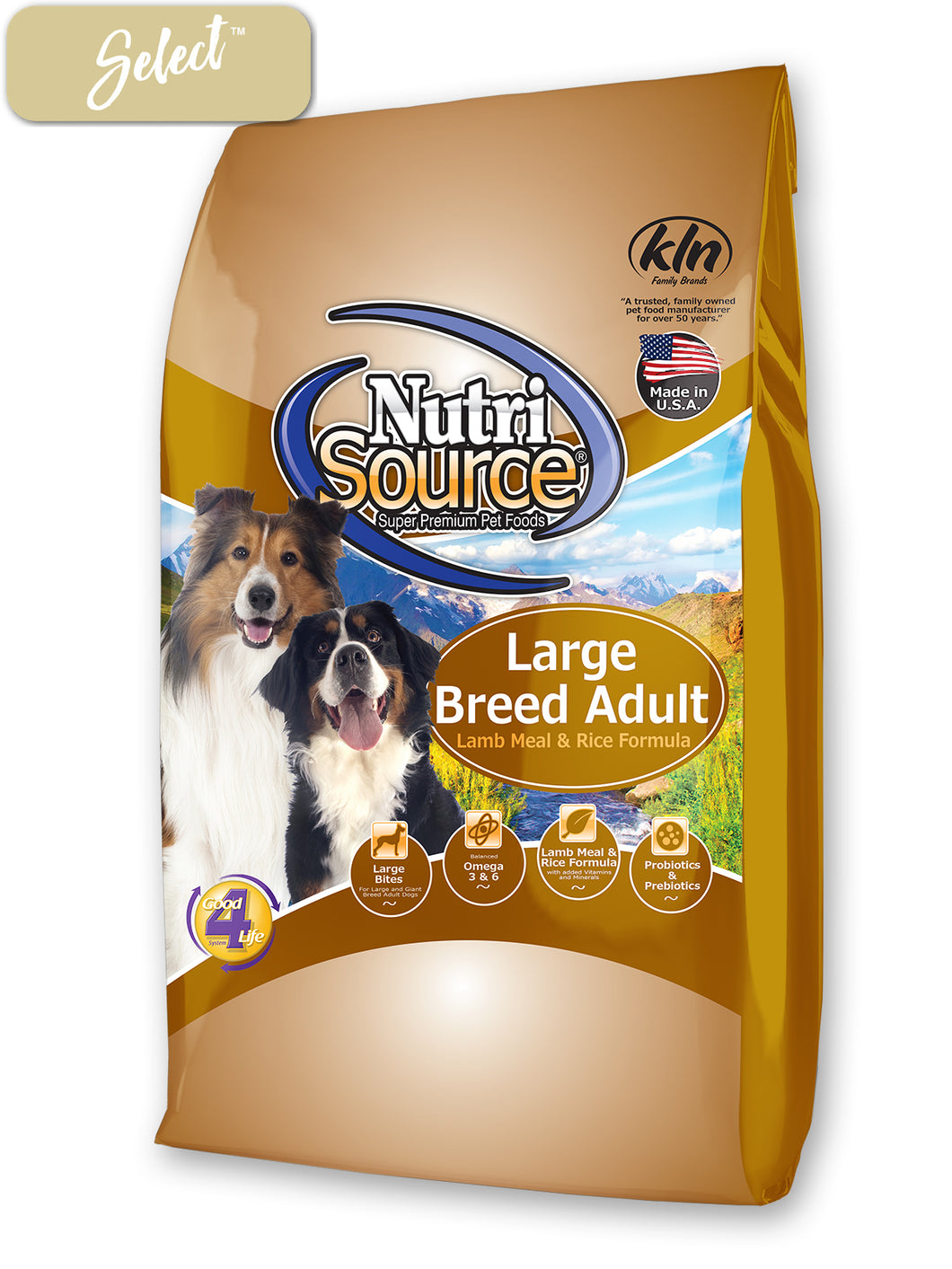 Nutrisource Large Breed Adult Lamb Meal and Rice Dog Food