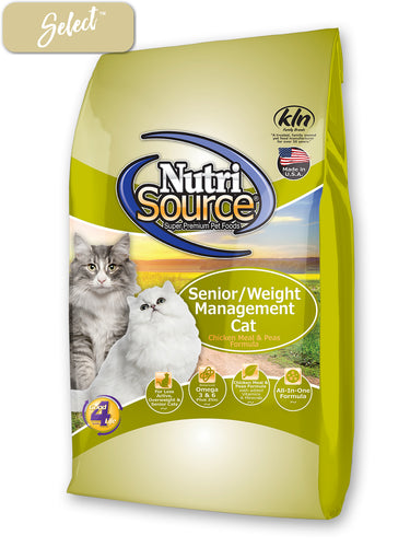 Nutrisource Senior Weight Management Chicken and Rice Cat Food