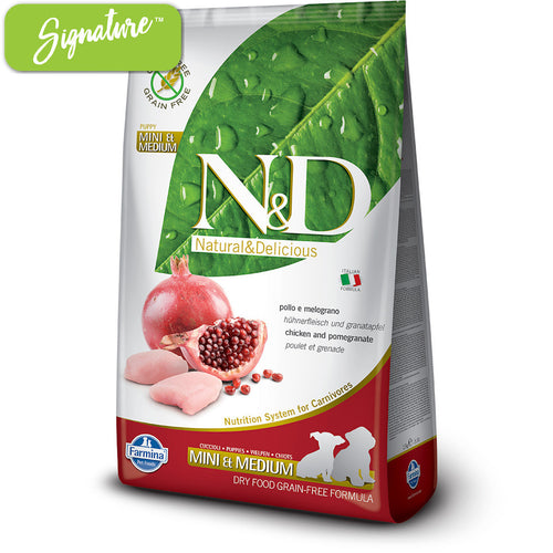 N&D Chicken and Pomegranate Small and Medium Puppy Food