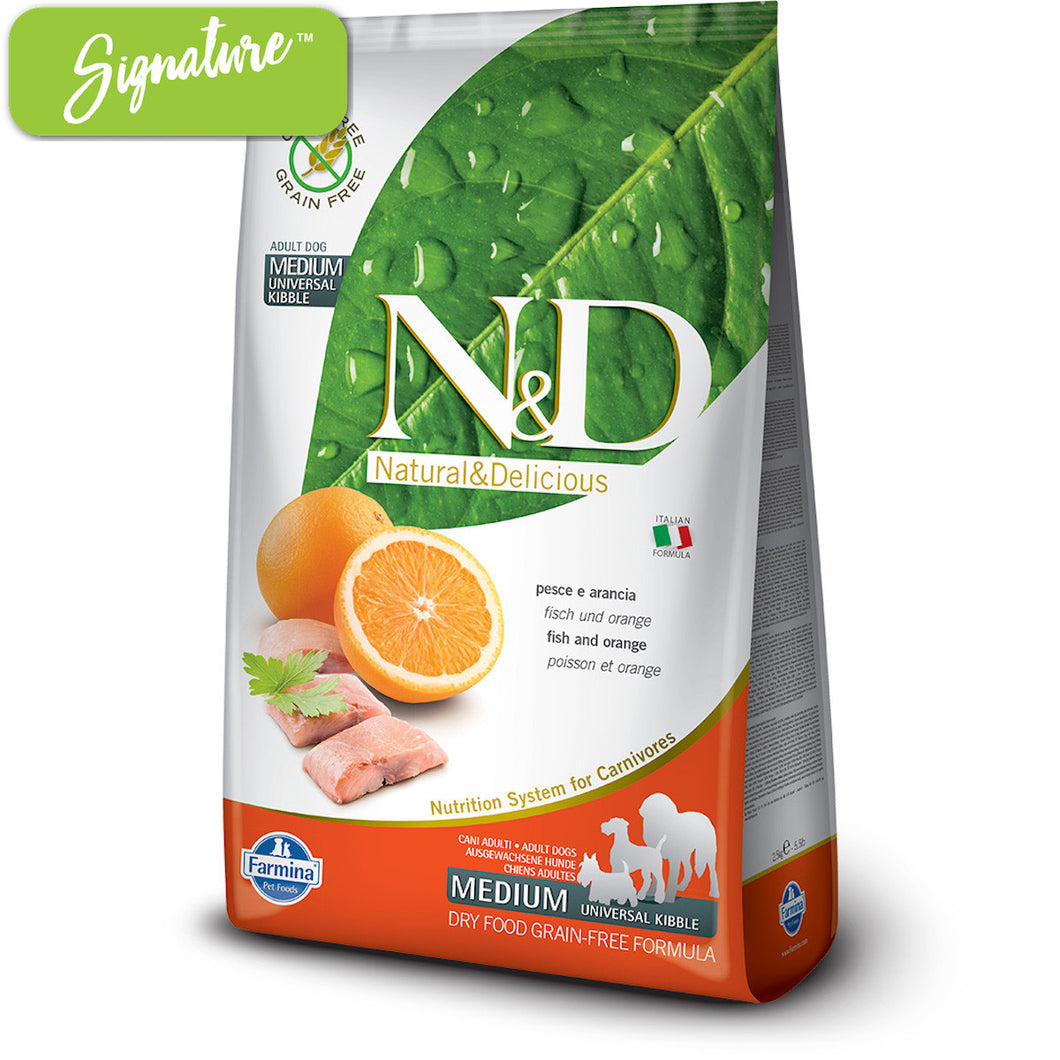 N&D Fish and Orange Dog Food