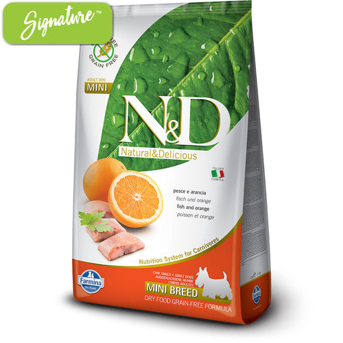 N&D Fish and Orange Small Dog Food