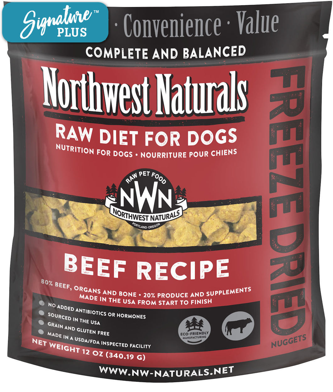 Northwest Naturals Beef Freeze Dried Dog Food
