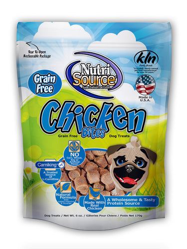Nutrisource Chicken Bites Grain Free Dog Treats