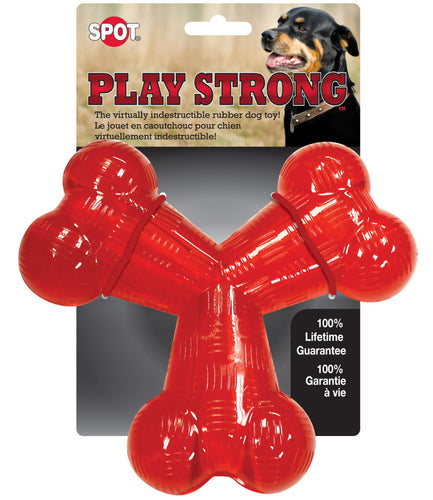 Play Strong Rubber Trident Dog Toy
