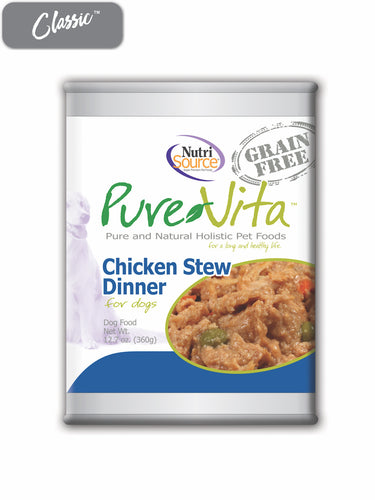 Pure Vita Chicken Stew Dog Cans