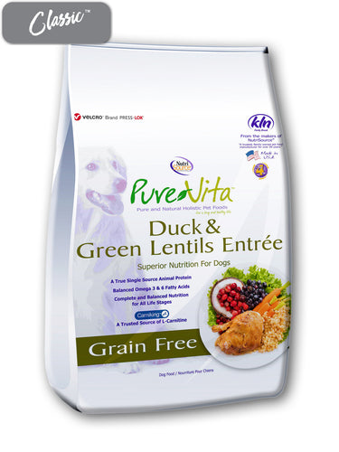 Pure Vita Duck and Green Lentils Dog Food