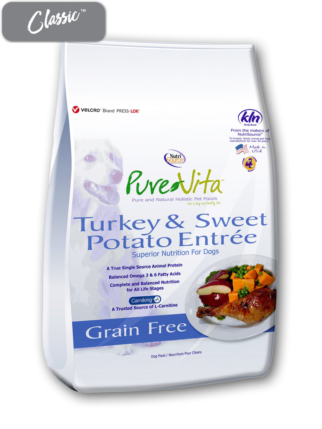 Pure Vita Turkey and Sweet Potato Dog Food