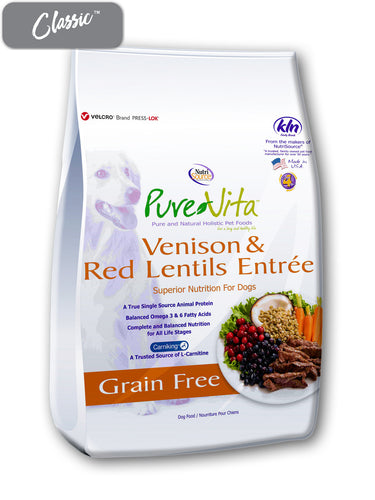 Pure Vita Venison and Red Lentils Dog Food