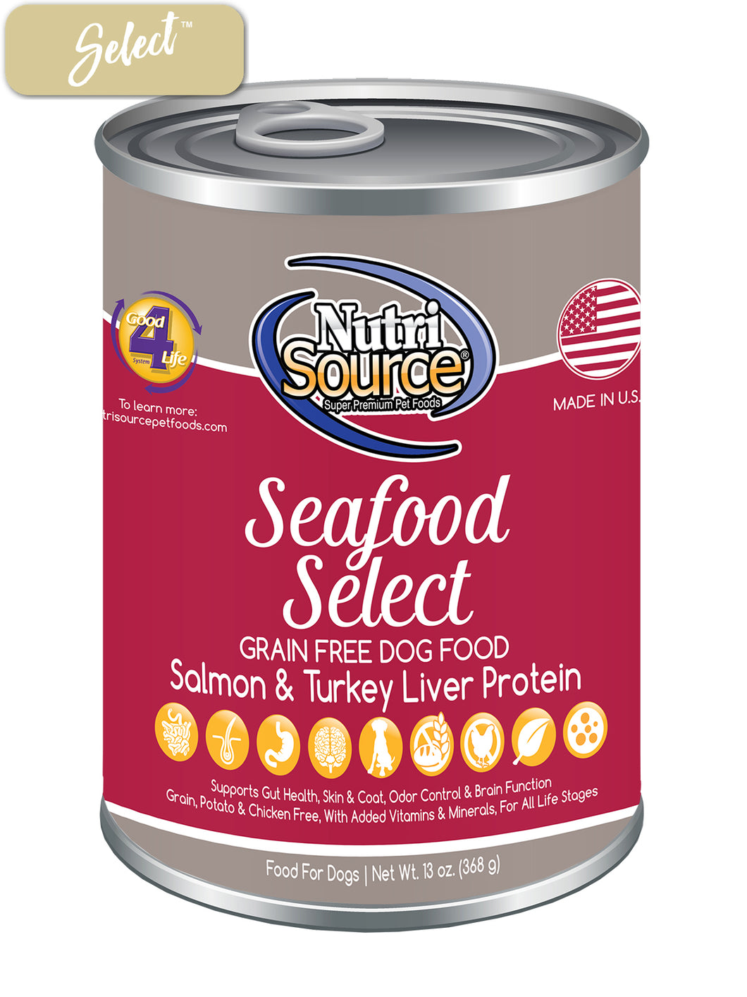 Nutrisource Grain Free Seafood Dog Cans