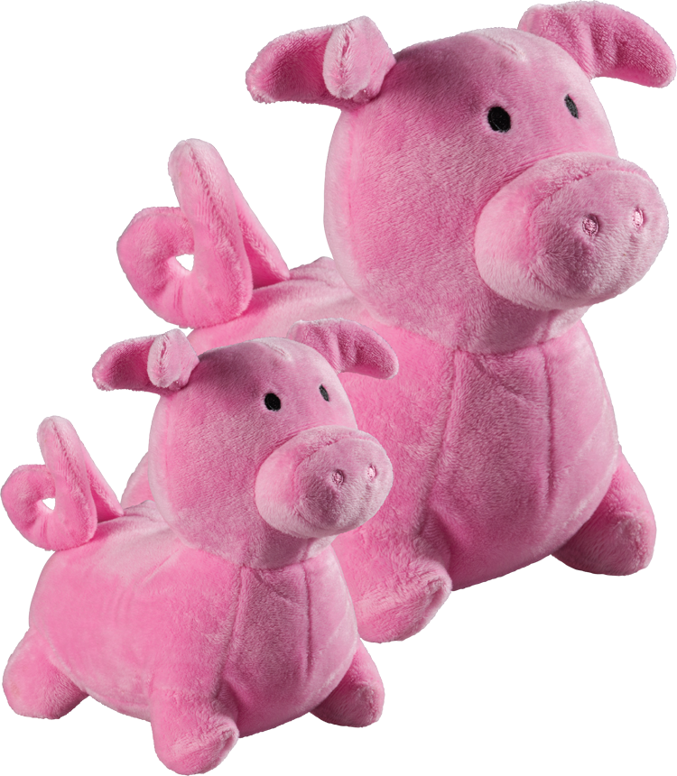 Snug N Tug Piggy Plush Dog Toy